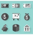 Flat icon set Money White style vector image
