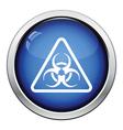 Icon of biohazard vector image