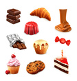 Confectionery set 3 vector image