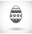 Easter Egg single icon vector image