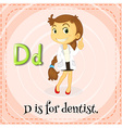 Flashcard letter D is for dentist vector image