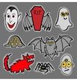 Funny Halloween monsters vector image