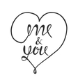 Romantic lettering poster vector image