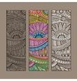vintage ethnic pattern card set vector image