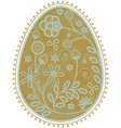lace egg vector image vector image
