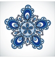 Blue flower pattern Hand drawn style vector image