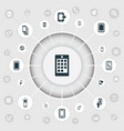 set of simple mobile icons vector image