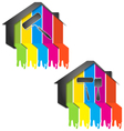 design for painting houses vector image vector image