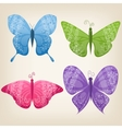 Set of four butterflies vector image vector image