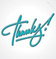 THANKS hand lettering vector image