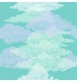 Seamless pattern with clouds sketches vector image