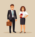 business men and women vector image