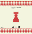 chess rook strategy icon vector image