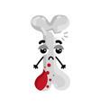 human broken bone cartoon character vector image