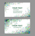 Multicolored triangle design business card set vector image