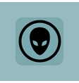 Pale blue alien sign vector image