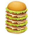 A big pile of hamburger vector image vector image