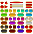 glass buttons of various colors set vector image
