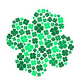 lot of various green cloverleaf for happy eps10 vector image