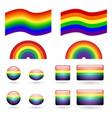 set of gay pride symbols vector image