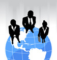 business team on the planet vector image vector image