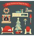 Living Room Christmas vector image