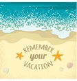 Background with sea sand beach and place for text vector image