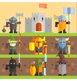 Castle and Knights Medieval Game Set vector image