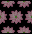 Cross stitch lotus seamless pattern vector image