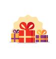 Gift box icon special present idea vector image