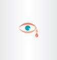 human eye cry tear icon vector image