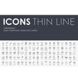jurisprudence Thin Line Icons vector image