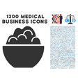 porridge bowl icon with 1300 medical business vector image