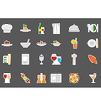 Restaurant food stickers set vector image