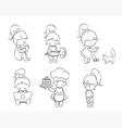 set of cute little girls vector image