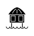 stilt house icon black sign vector image