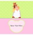 Angel with a Teddy Bear card vector image vector image