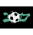 Abstract number 2017 and soccer ball vector image