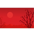 Chinese theme with bamboo landscape vector image