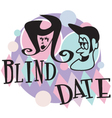 Blind date retro vector image
