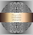 baroque background with antique luxury silver and vector image