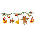 Christmas decoration holly vector image vector image