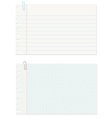 Note Paper with Clip on White Background vector image