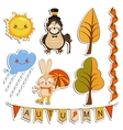 set of cartoon drawings funny animals vector image