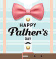 Happy fathers day pink ribbons with blue shirt vector image