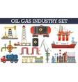 Oil gas industry infographics concept Gasoline vector image