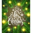 Christmas poster design template vector image