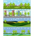 City and outdoor landscape in vector image