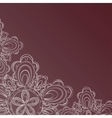 Frame with lace floral pattern vector image