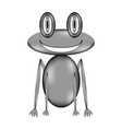frog sign icon vector image